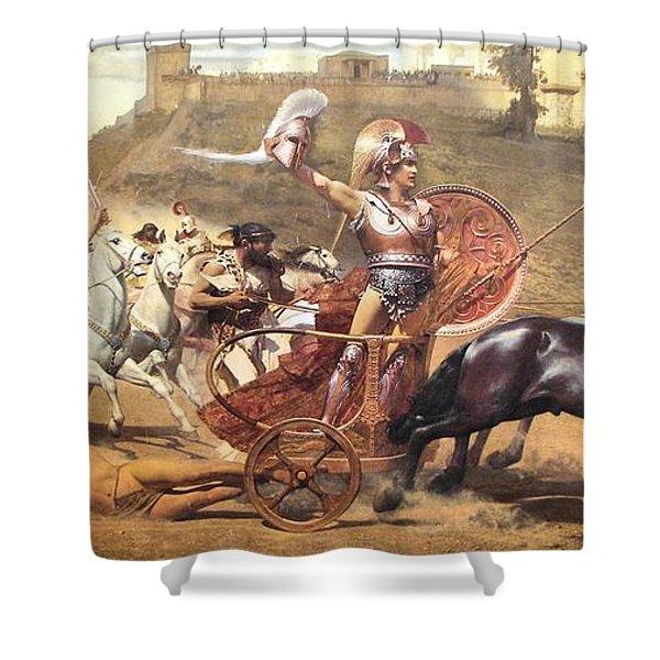 Triumphant Achilles Shower Curtain