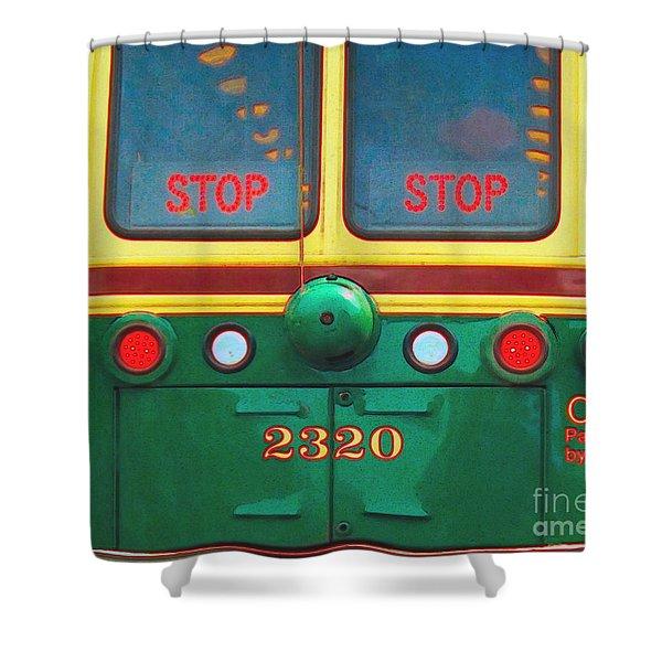 Trolley Car - Digital Art Shower Curtain