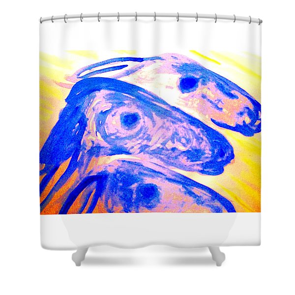 Trolls Herd Running But They Dont Know Where And They Dont Know Why   Shower Curtain