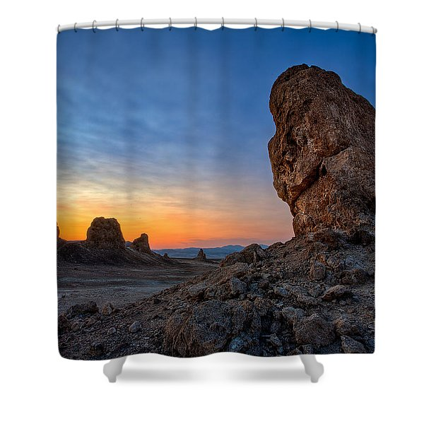 Trona Pinnacles Shower Curtain