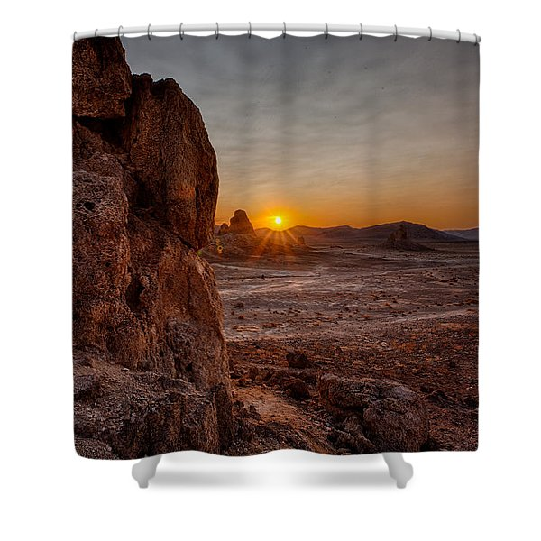 Trona Sunset Shower Curtain