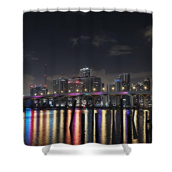 Trooper Bridge Miami Shower Curtain