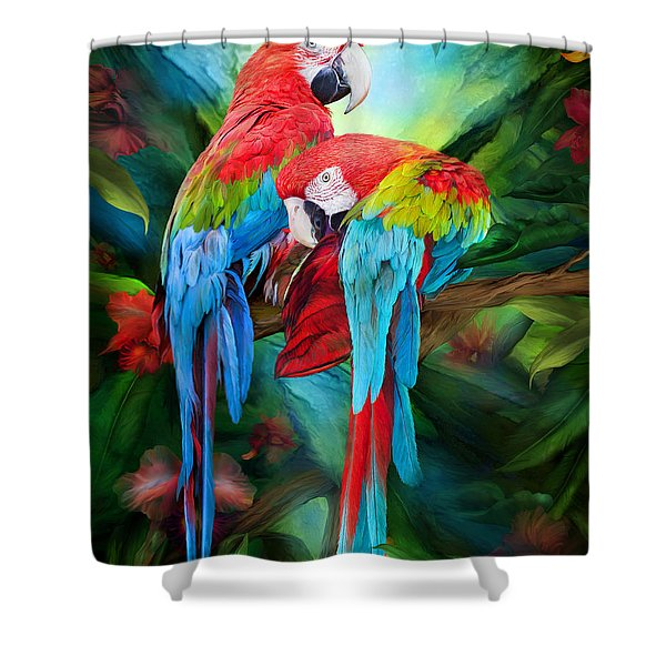 Tropic Spirits - Macaws Shower Curtain
