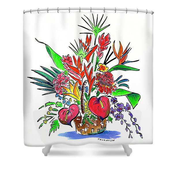 Tropical Basket Shower Curtain