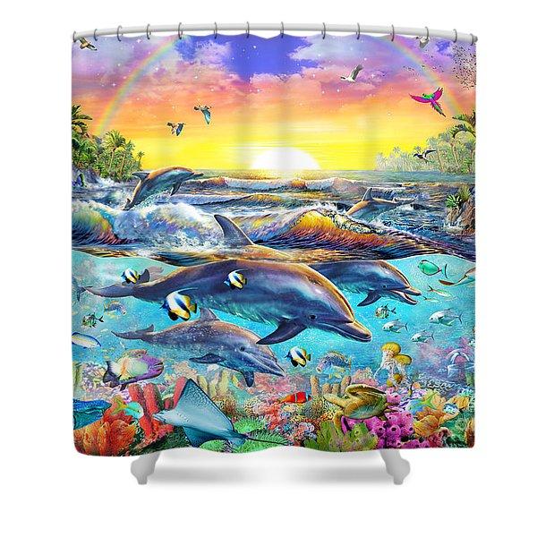 Tropical Cove Shower Curtain