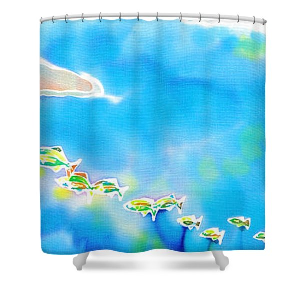 Tropical Fishes Shower Curtain