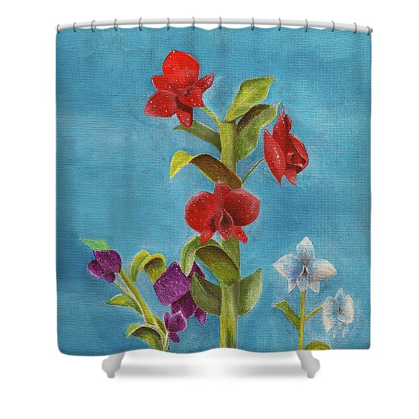 Tropical Flower Shower Curtain