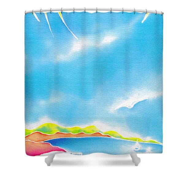 Tropical Fruits Shower Curtain