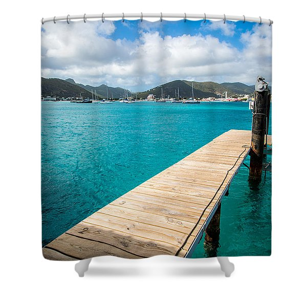 Tropical Harbor Shower Curtain
