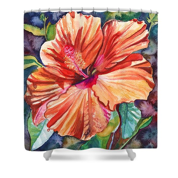 Tropical Hibiscus 5 Shower Curtain