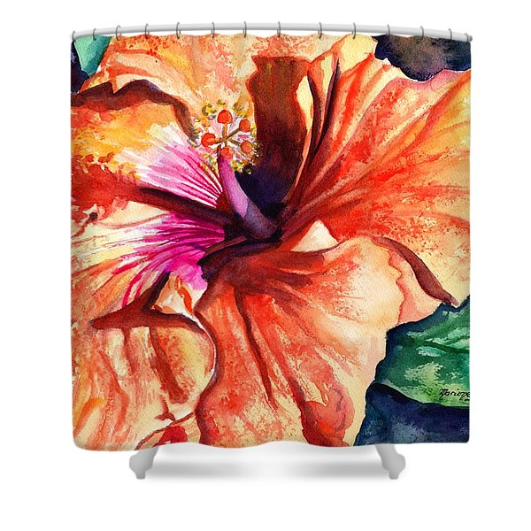 Tropical Hibiscus Shower Curtain