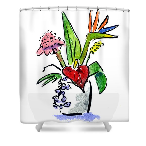 Tropical Mix Shower Curtain