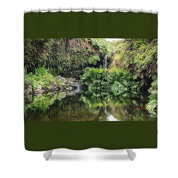Tropical Reflections Shower Curtain