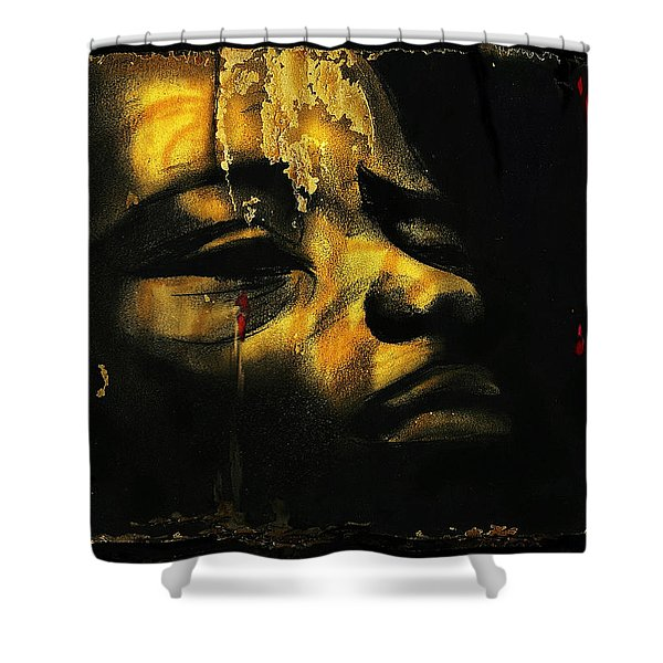 Troubled  Africa Shower Curtain