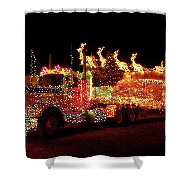 Truck 18 Wheeler Tractor Trailer Shower Curtain