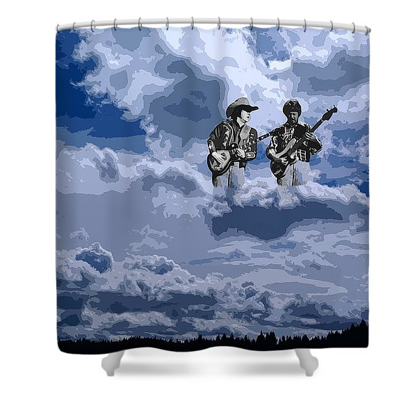 Tucker Boys In The Clouds 2 Shower Curtain