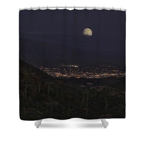 Tucson At Dusk Shower Curtain