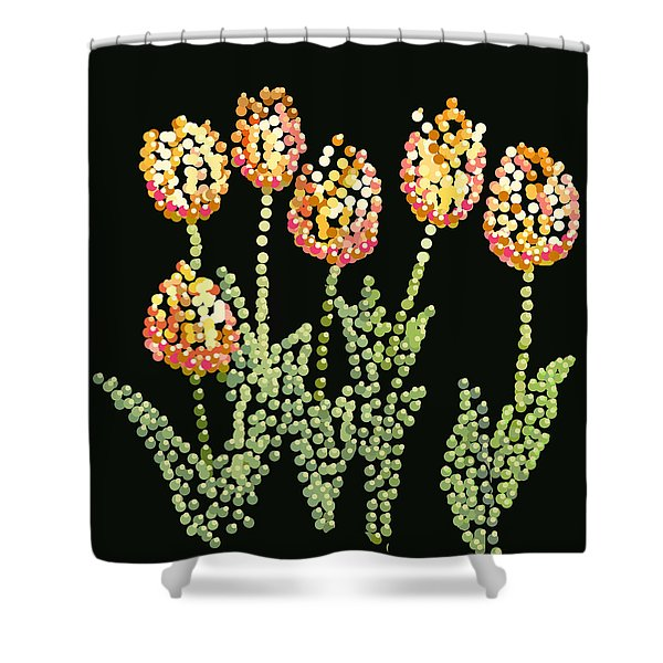 Tulips Bedazzled Shower Curtain