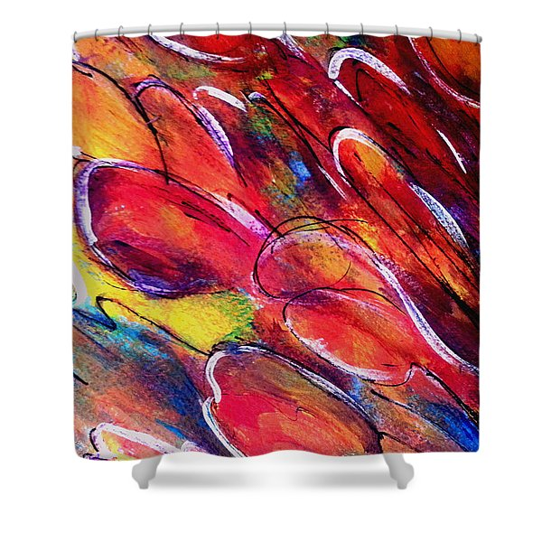 Tulips Swaying Shower Curtain