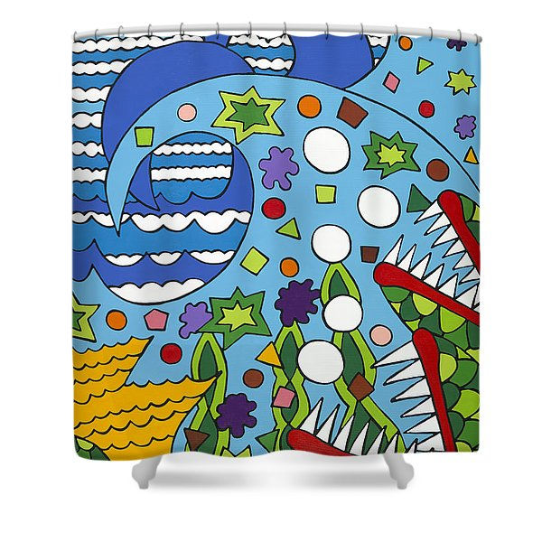 Tumbled Shower Curtain