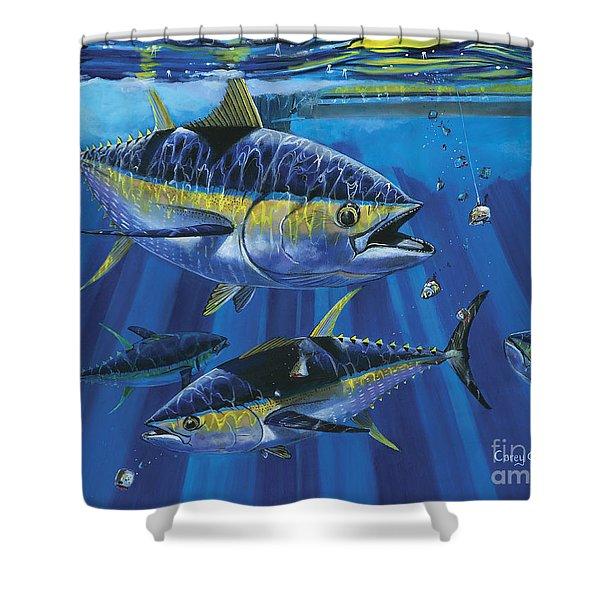 Tuna Blitz Off0039 Shower Curtain