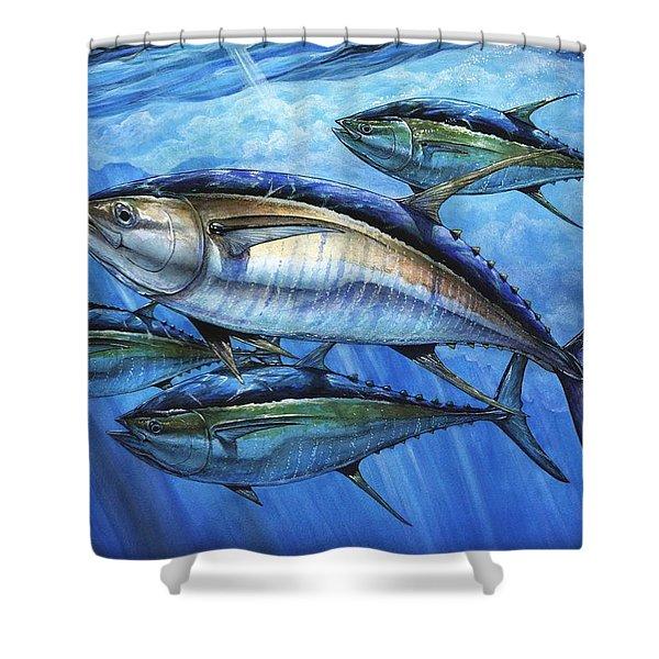 Tuna In Advanced Shower Curtain