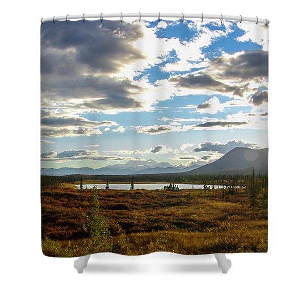 Tundra Burst Shower Curtain