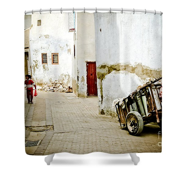 Shower Curtain featuring the photograph Tunisian Girl by John Wadleigh