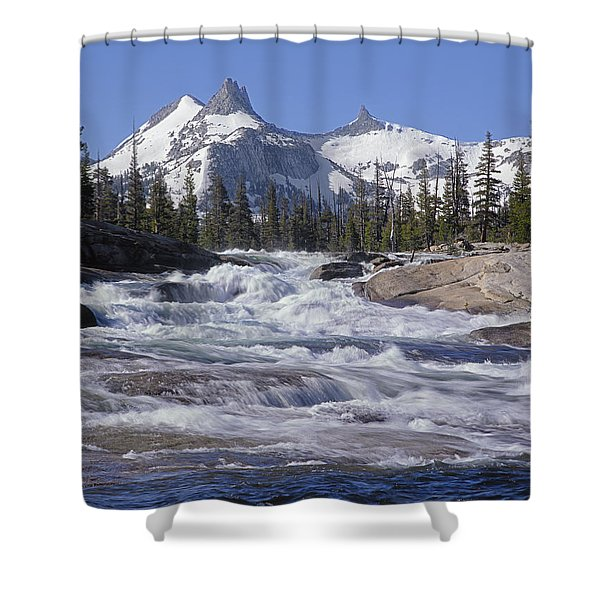 6m6539-tuolumne River  Shower Curtain