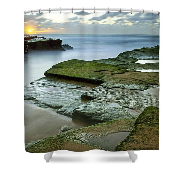 Turimetta Beach Sunrise Shower Curtain