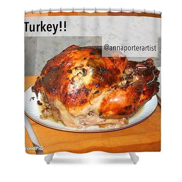 Turkey!! Cooked And Photographed By Shower Curtain