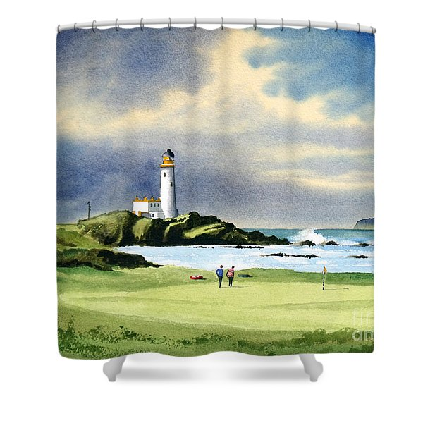Turnberry Golf Course Scotland 10th Green Shower Curtain