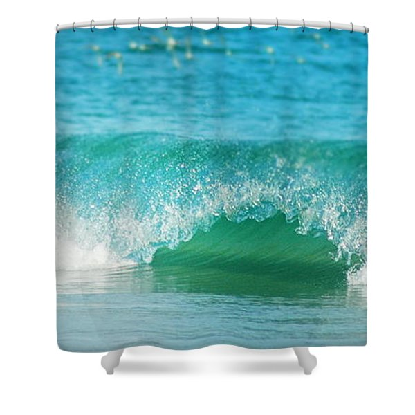 Turquois Waves  Shower Curtain