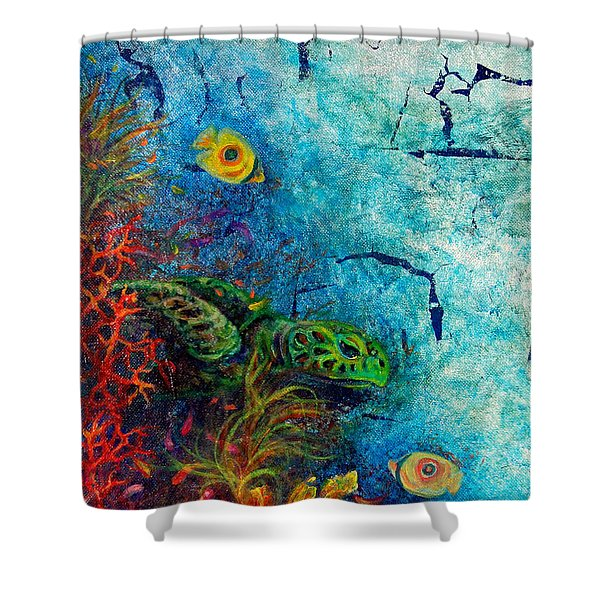 Turtle Wall 1 Shower Curtain