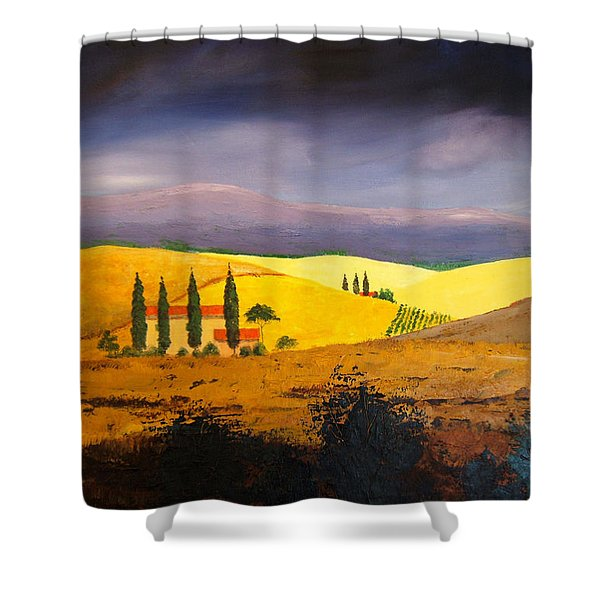 Tuscan Hill Country Shower Curtain
