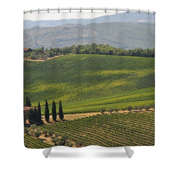 Tuscan Hillside Shower Curtain