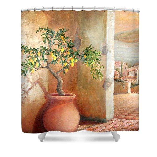 Tuscan Lemon Tree Shower Curtain