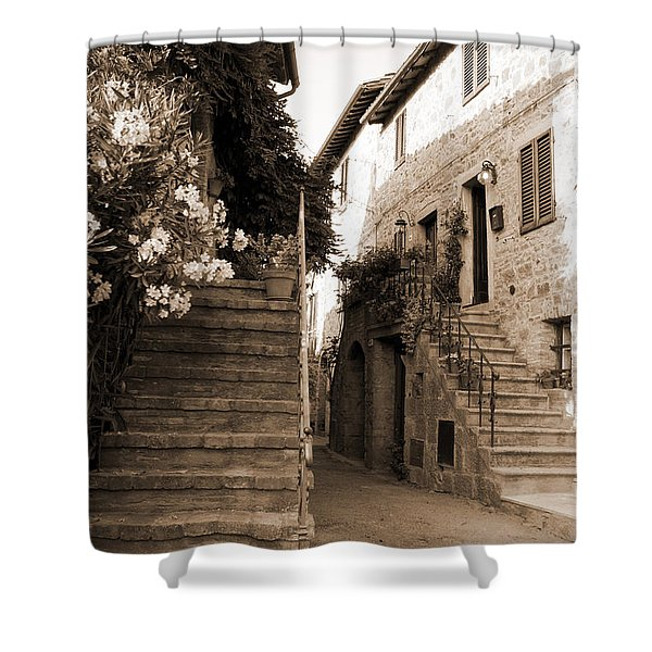 Tuscan Stairways 2 Shower Curtain