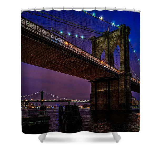 Twilight At The Brooklyn Bridge Shower Curtain