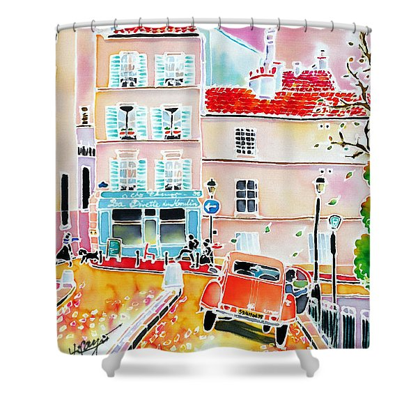 Twilight Montmartre Shower Curtain