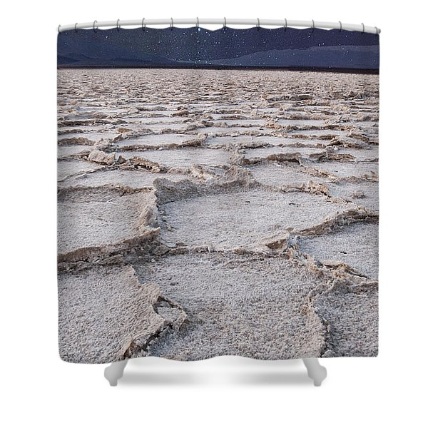 Twilight On The Salt Flats Shower Curtain