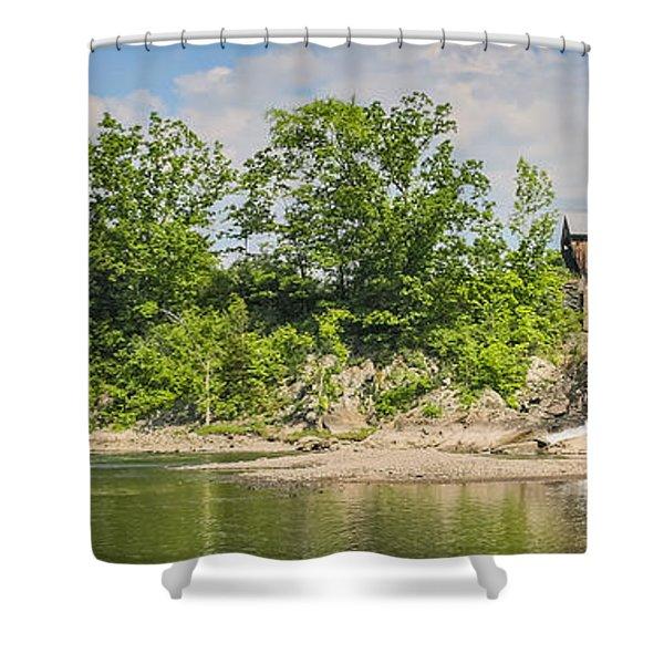 Twin Bridges North Hartland Vermont Shower Curtain