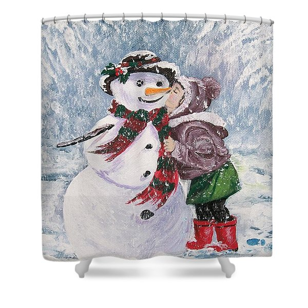 Twinkle In His Eye Shower Curtain