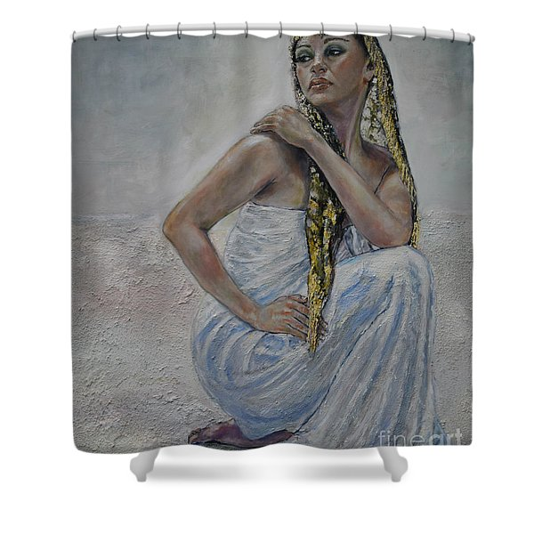 Twins 1 Shower Curtain