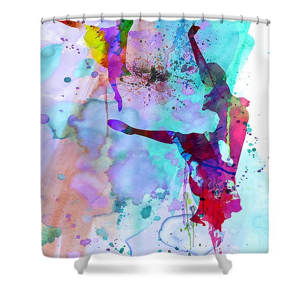 Two Ballerinas Watercolor 4 Shower Curtain