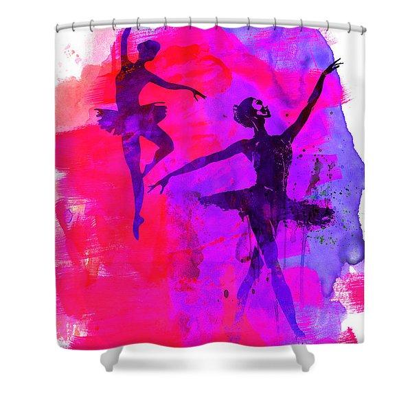 Two Dancing Ballerinas 3 Shower Curtain