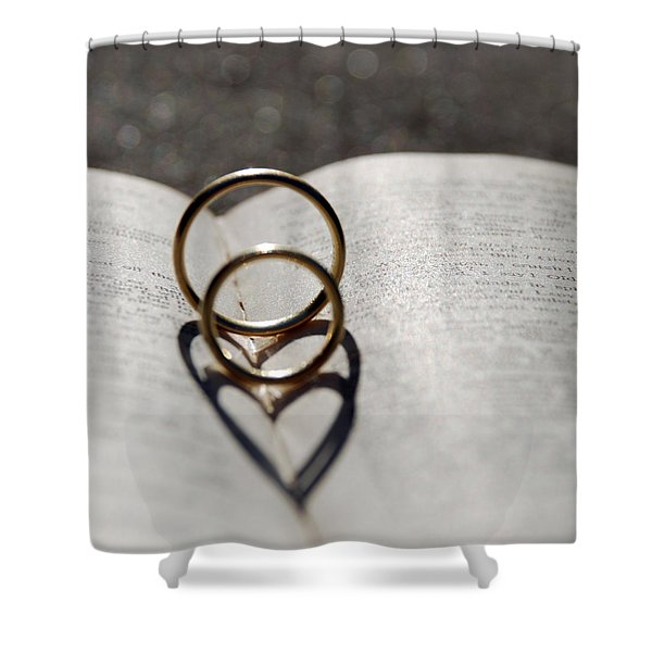 Two Hearts As One Shower Curtain