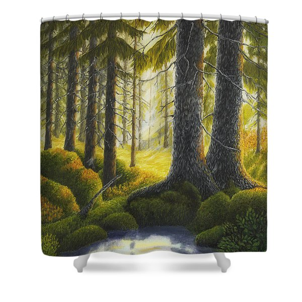 Two Old Spruce Shower Curtain
