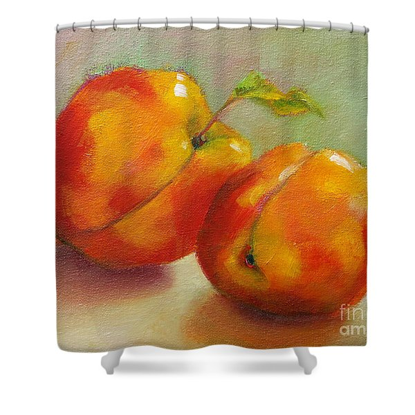 Two Peaches Shower Curtain