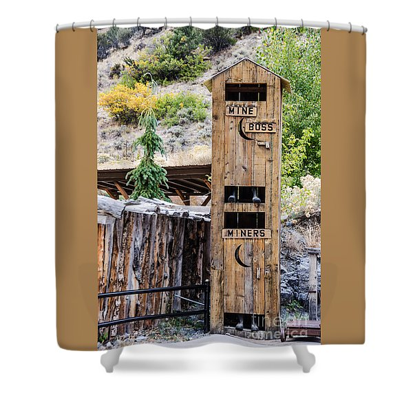 Two-story Outhouse Shower Curtain